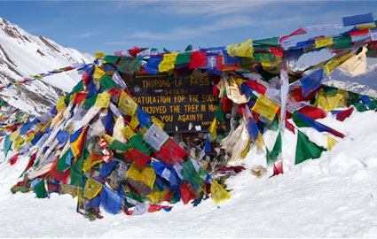Annapurna Circuit trekking route.