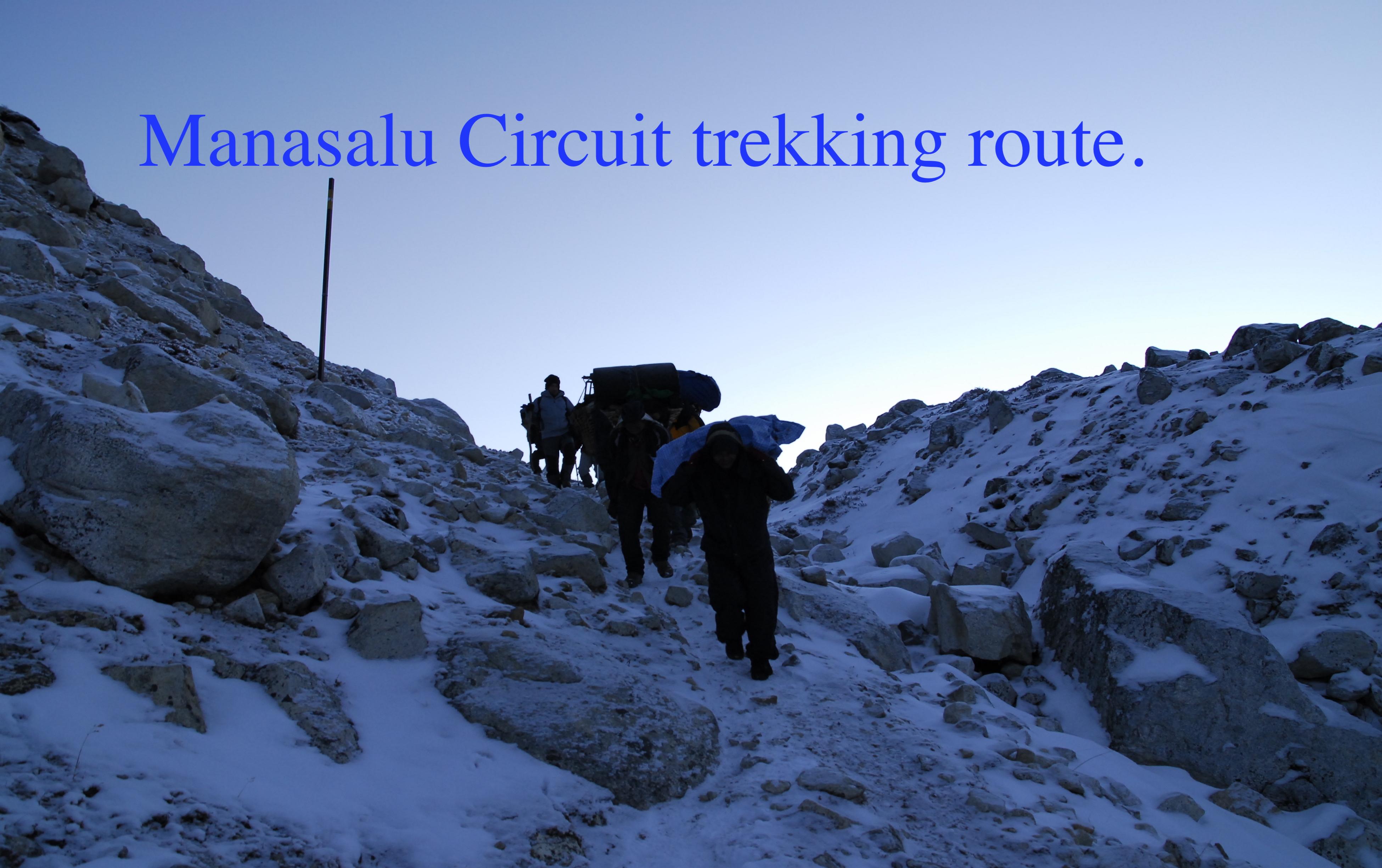 Manasalu Circuit trekking route