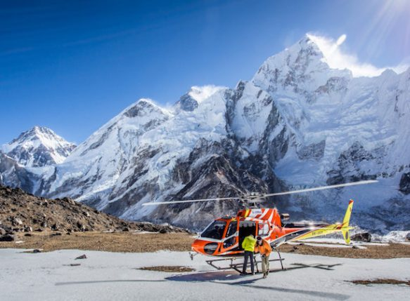 day tour to Everest base camp by helicopter