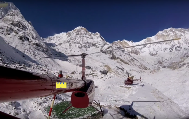 Annapurna base camp Helicopter landing tour
