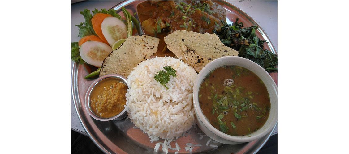 nepali food dal bhat tarkari