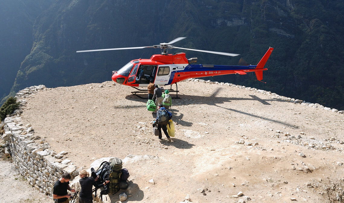 Helicopter to Namche Bazaar | Namche to Kathmandu Helicopter Price