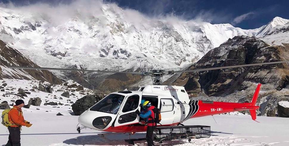Annapurna Base camp trek return back by helicopter